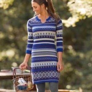 Athleta 'Fara' Fair Isle Sweater Dress  VGC